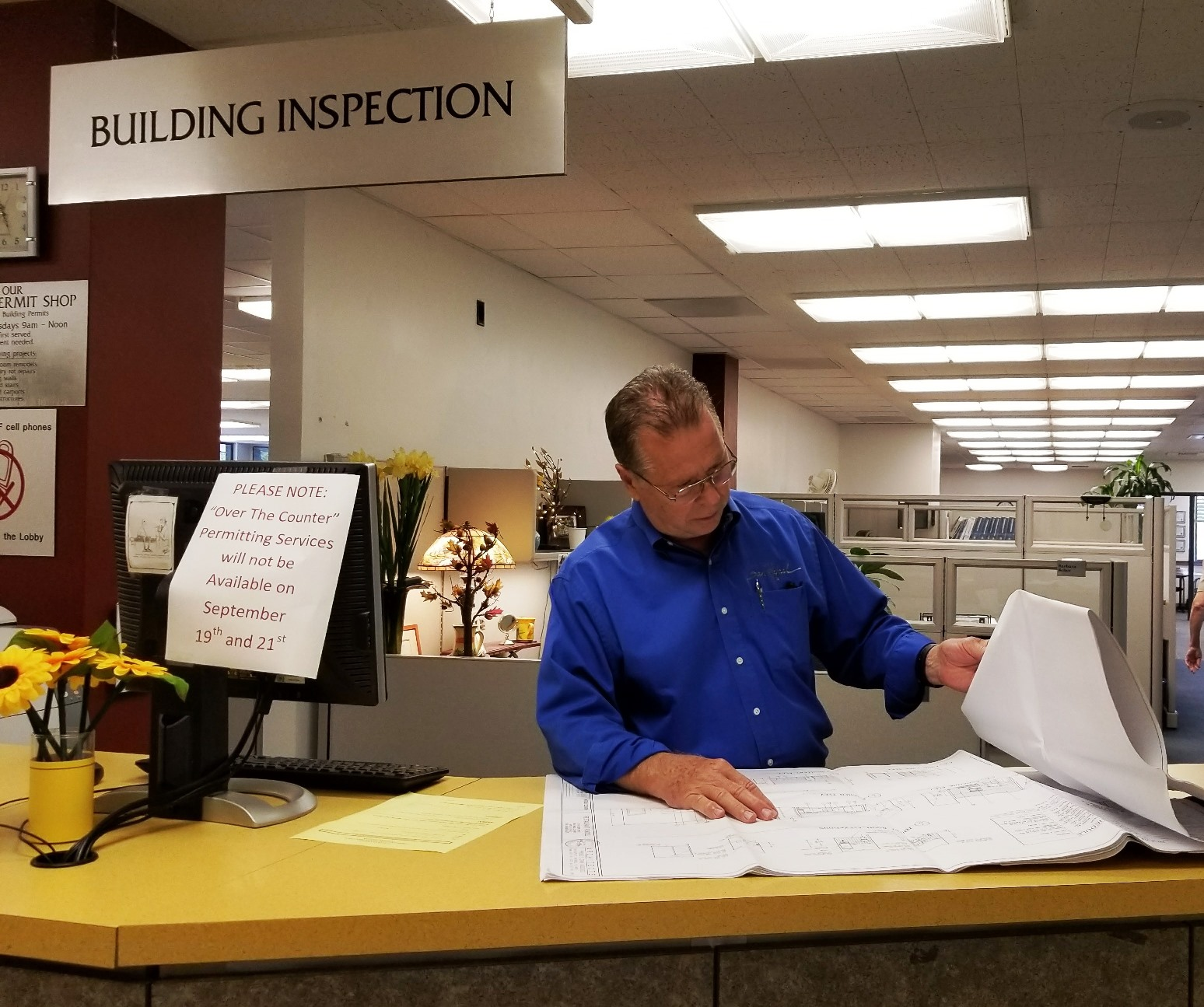Building Inspection Services : Quot over the counter building permit service unavailable