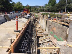 Rebar for bridge abutment