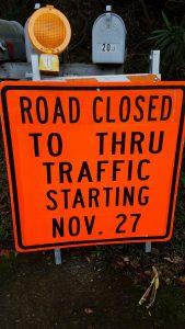 Irwin Street closure sign