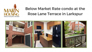 Below Market Rate condo at the Rose Lane Terrace in Larkspur