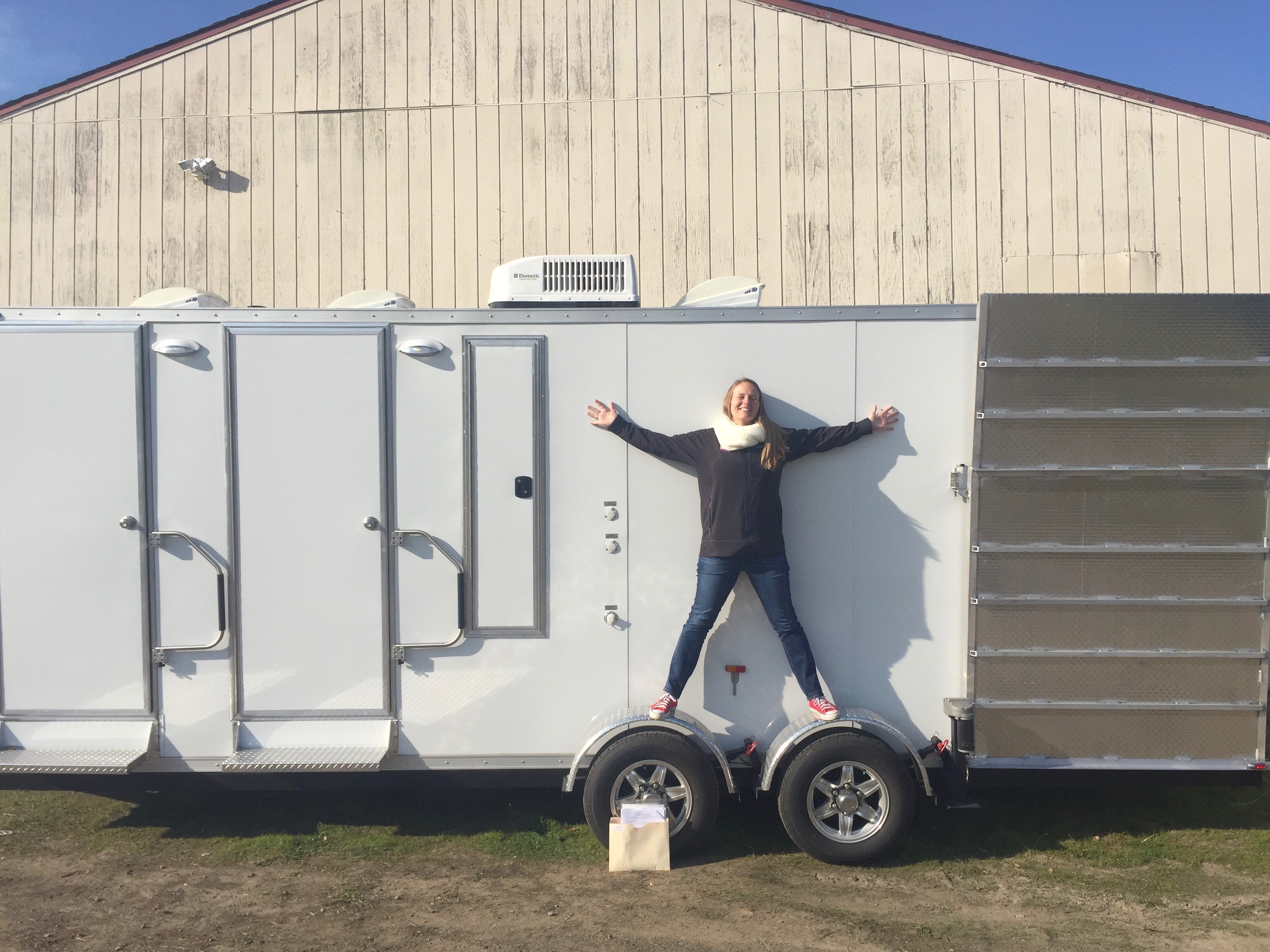 The mobile shower units have arrived!