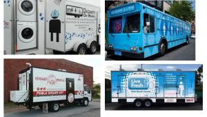 Examples of mobile showers