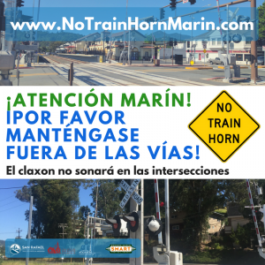 No Train Horn Social Media - Spanish