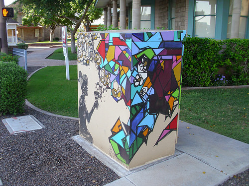 Utility box art