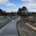 New Sidewalk at Civic Center Drive