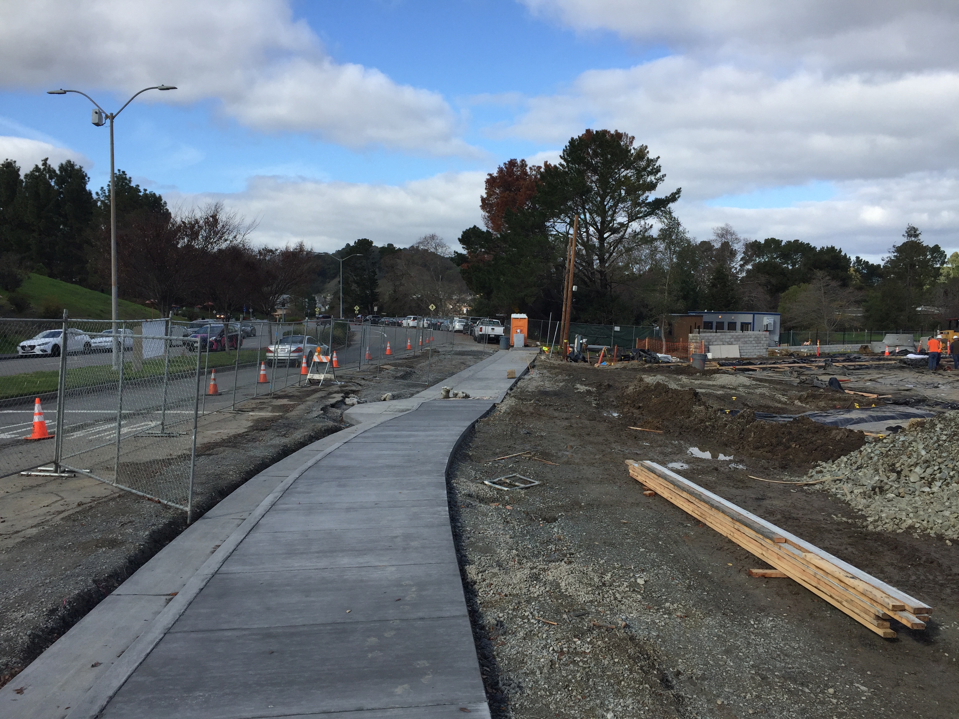 New Sidewalk at Civic Center Drive