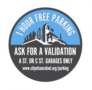 1 hr parking validations graphic
