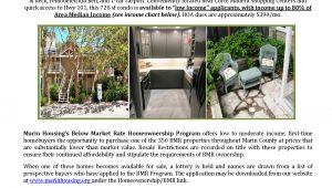 Two-Bedroom BMR Condominium Announcement