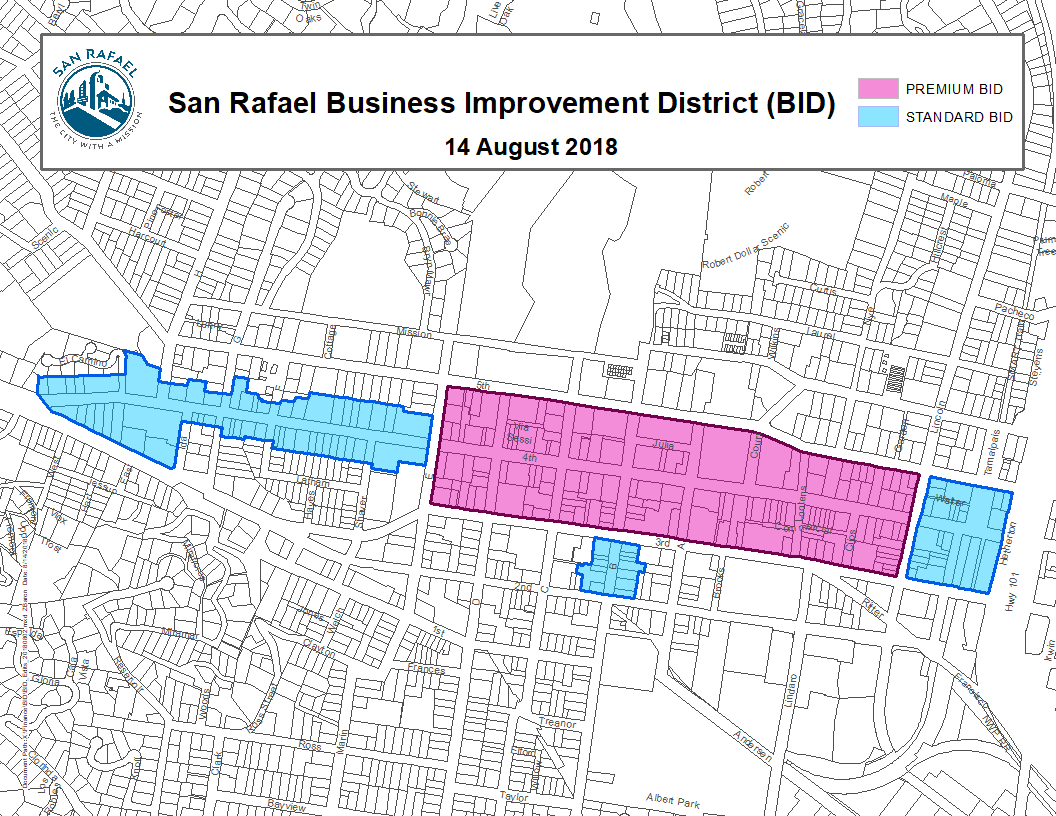 Business Improvement District Map