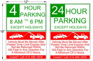 esr parking sign