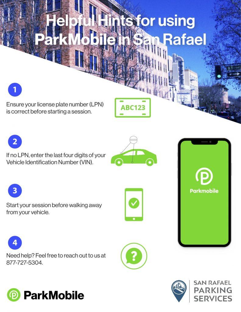 Using Parkmobile in San Rafael Helpful Hints