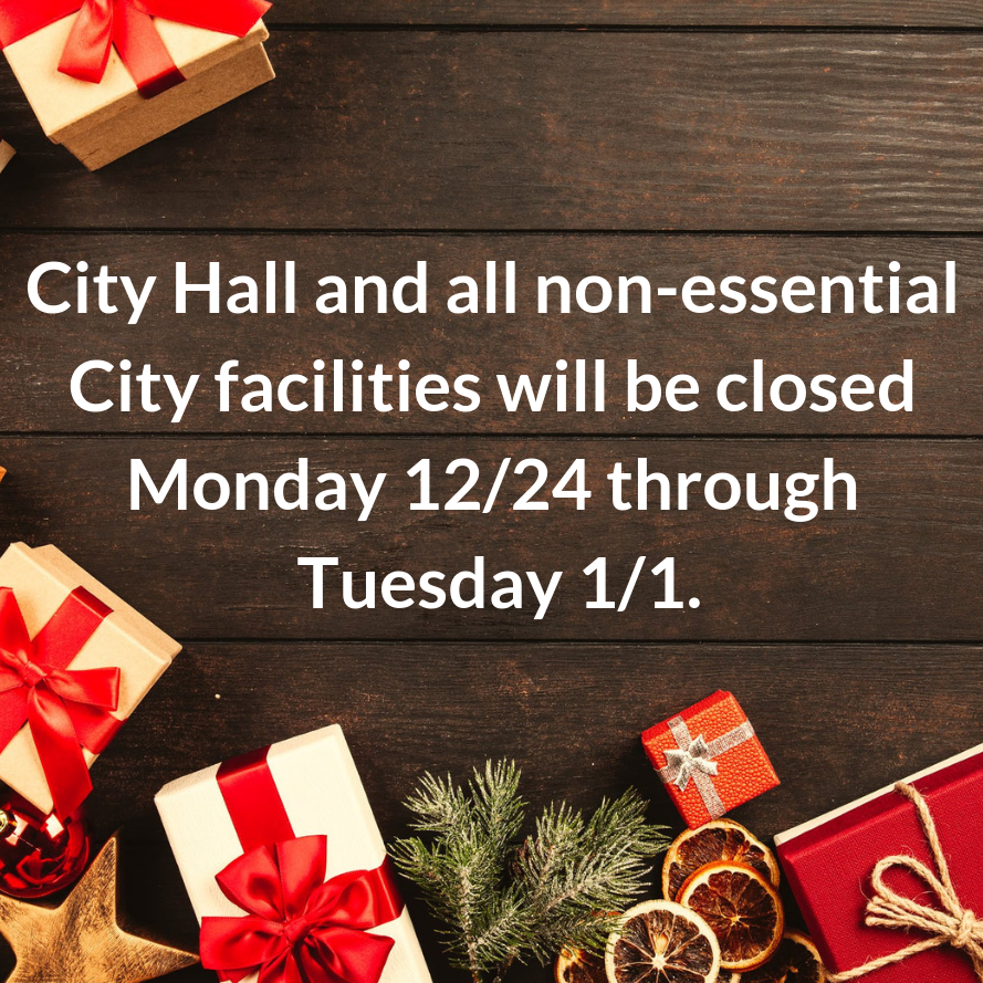 City Hall Holiday Closure