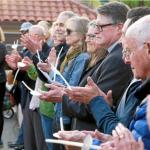 Community members at a vigil