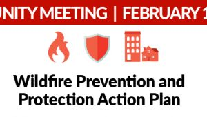Community Meeting Wildfire Prevention and Protection Action Plan