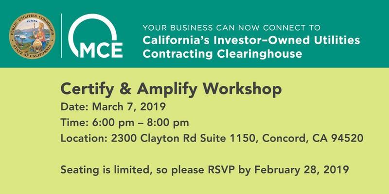 Certify and Amplify Workshop Flier