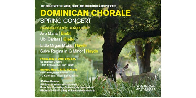 Dominican Chorale Spring Concert Flier - St. Raphael