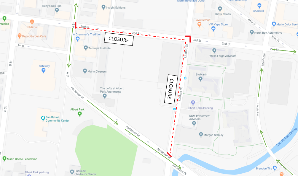 2nd Street Closure 04/22/19