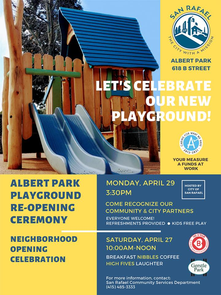 Albert Park Playground Re-Opening Ceremony Flier