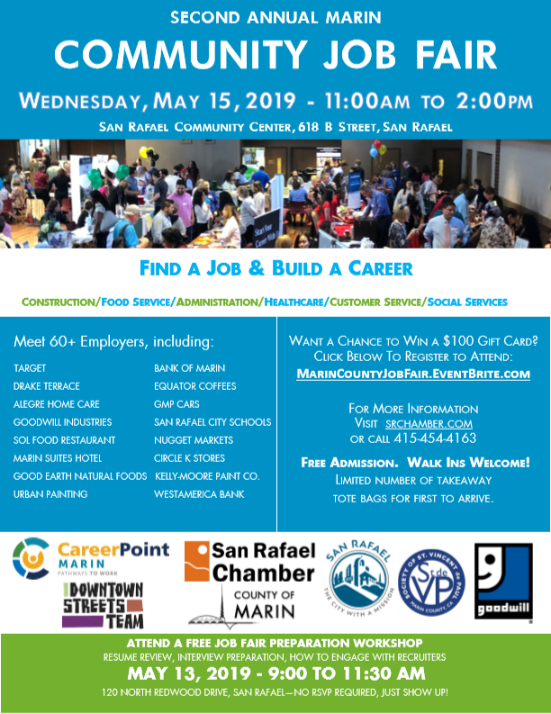 2nd Annual Marin County Community Job Fair - San Rafael