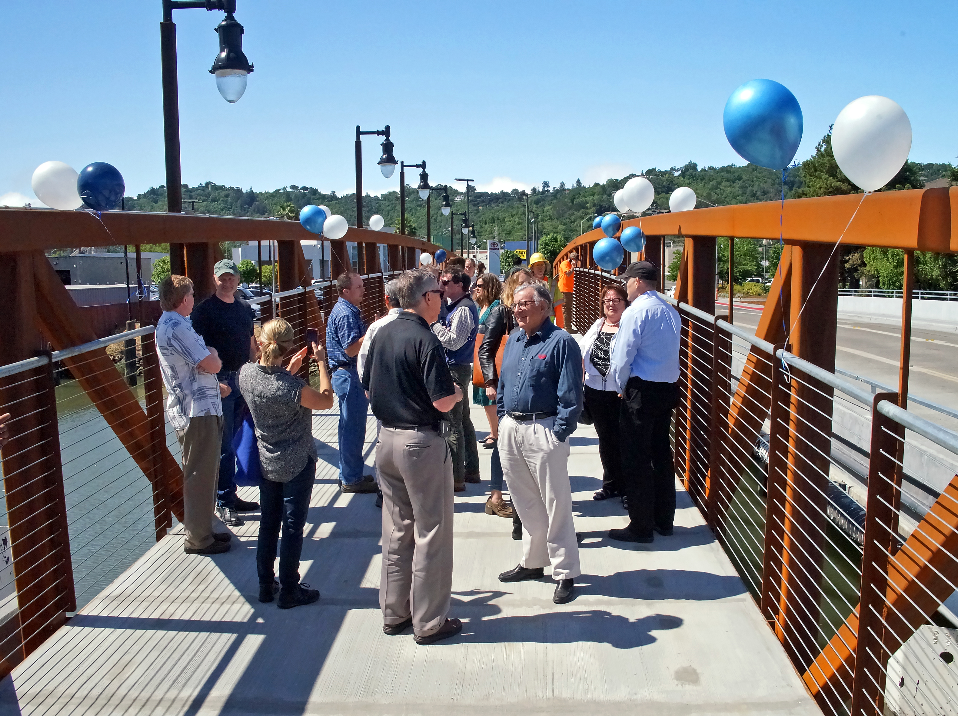 Grand Avenue Pedestrian Bridge Grand Opening