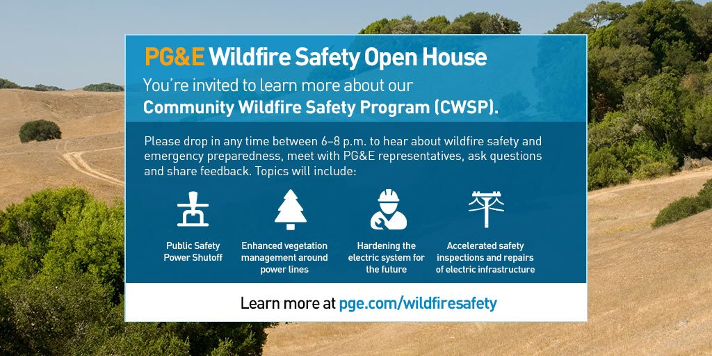 PG&E Wildfire Safety Open House
