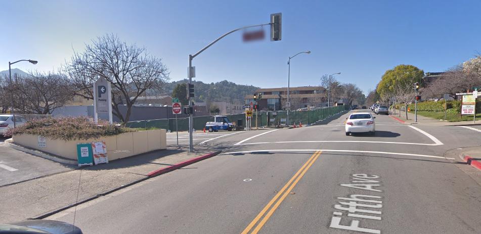 Google map image of parking sign for public art