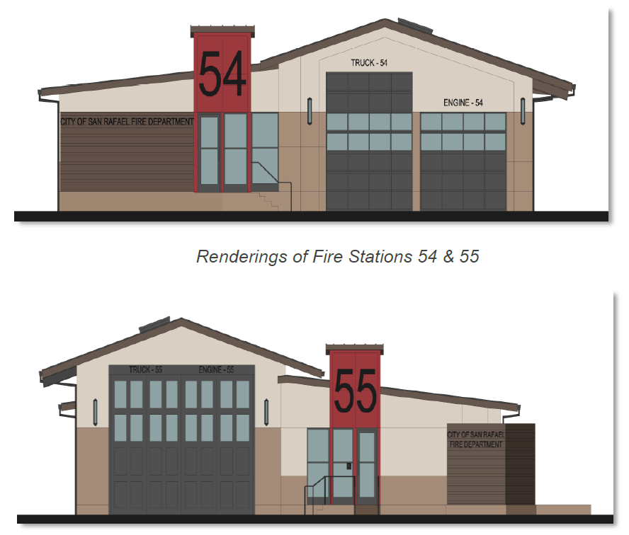 Renderings of Fire Stations 54 & 55