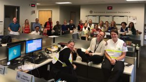 City staff in the EOC