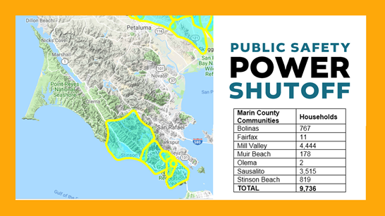 PG&E Outage Map - 10-8-2019