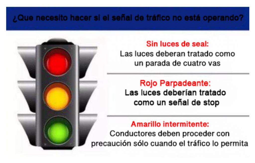 Los semaforos no van a allumbrar durante la corte de energia