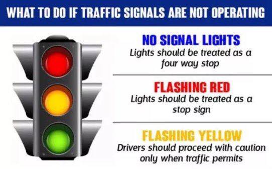 blacked out signals should be treated as a 4-way STOP