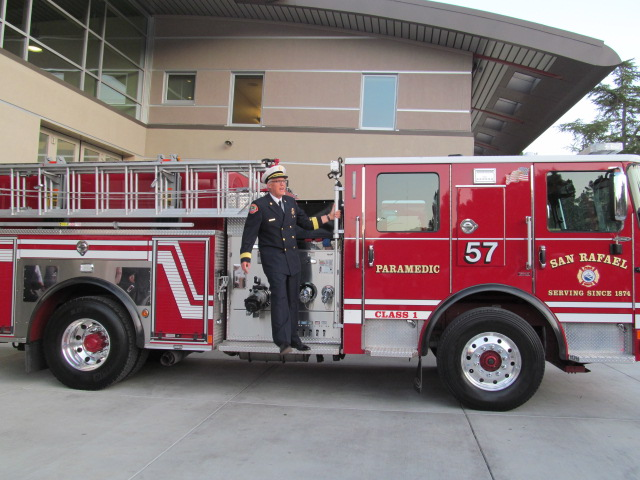 Chief Gray and Fire Station 57