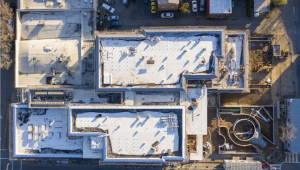 Overhead view of Public Safety Center's roof