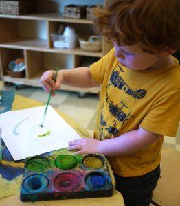 Child paints image