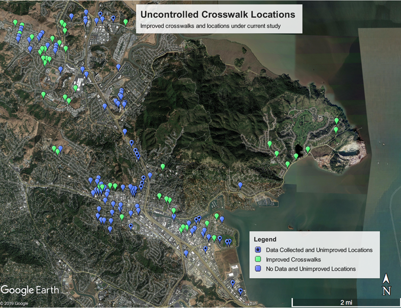 Uncontrolled Crosswalk Locations