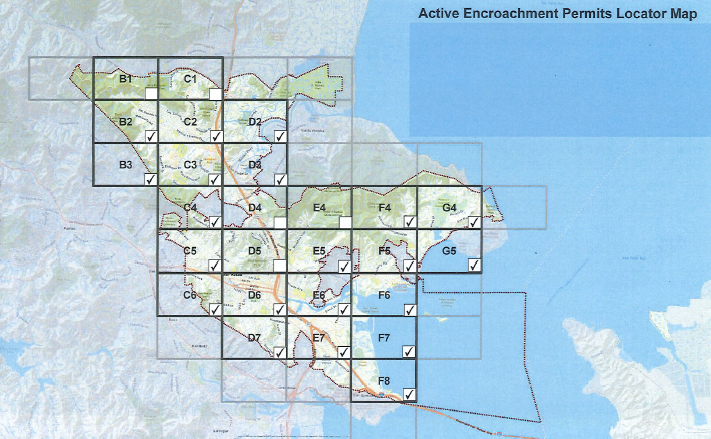 Active Encroachment Permits Locator Map