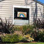 Rainbow drawing in Sun Valley neighborhood