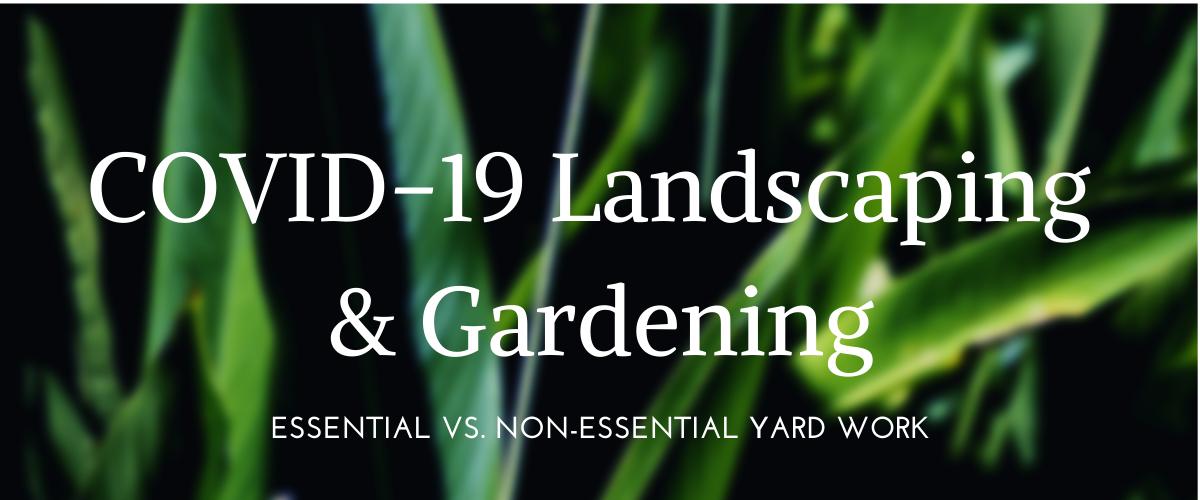 COVID Gardening