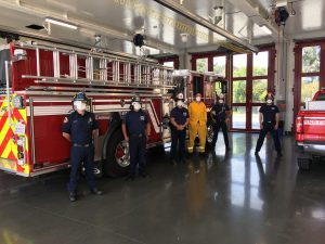 SR Firefighters don PPE gear