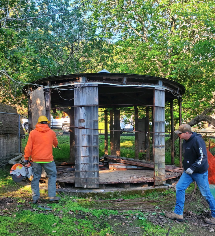 Water Tank Removal at Bret Harte Park
