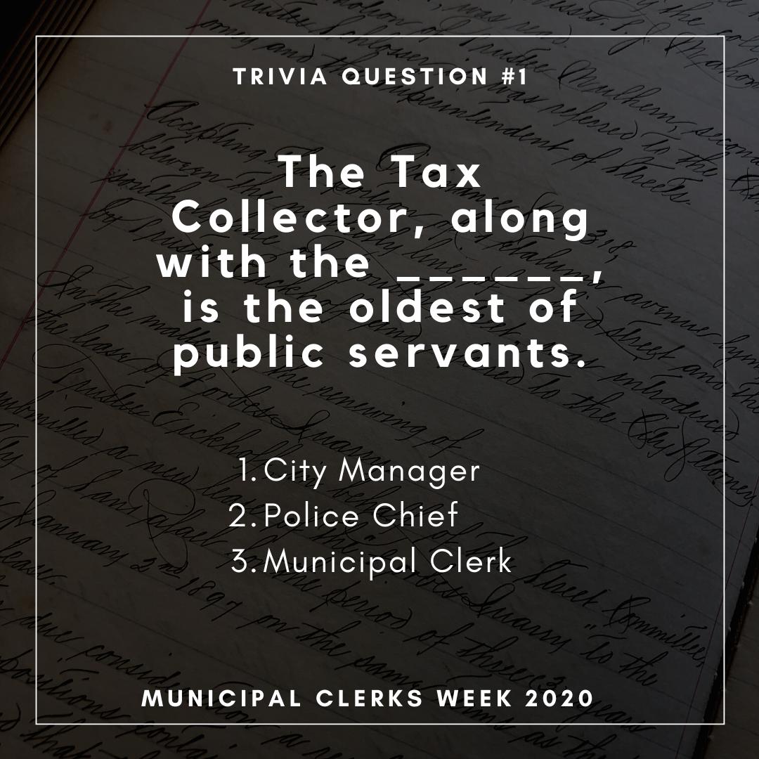 Municipal Clerks Week - Monday