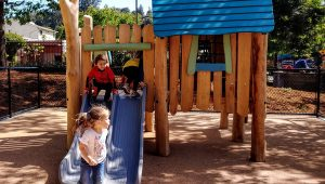 Kids play at Albert Park