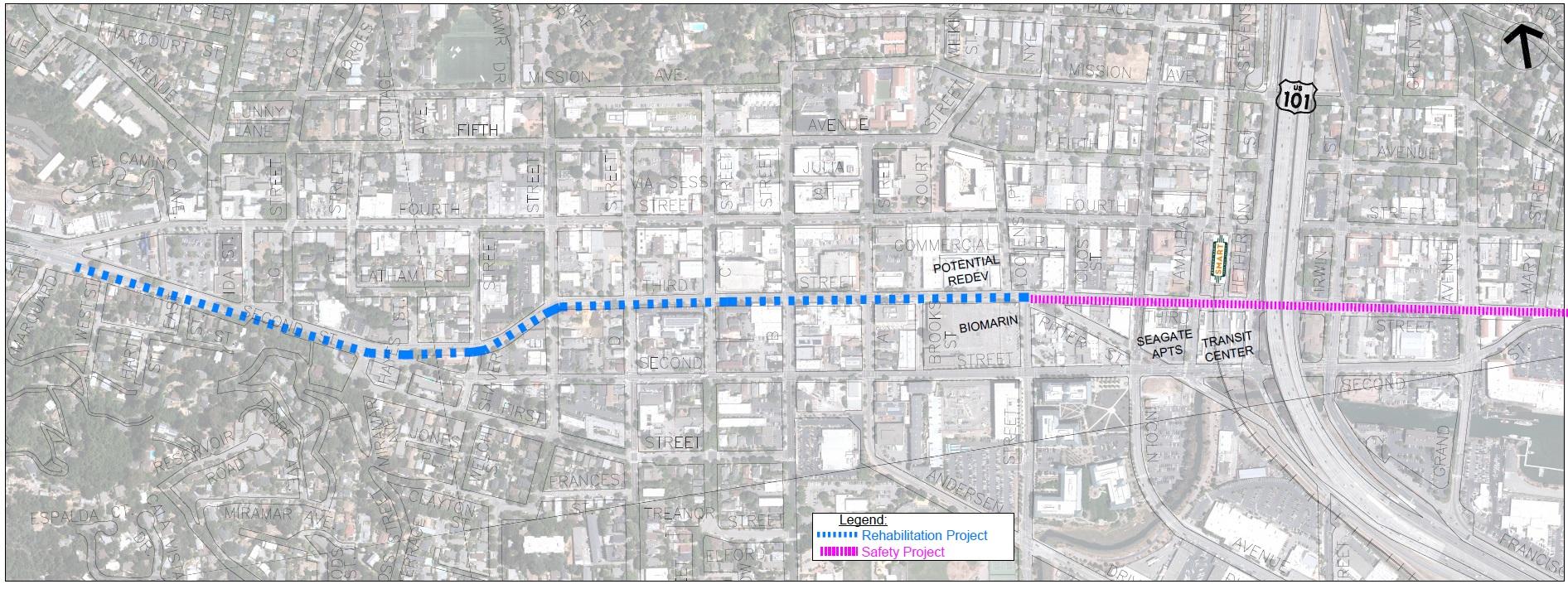 Third Street Project Limits