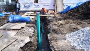 sewer lateral active construction
