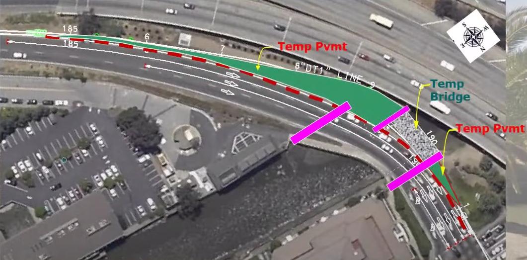 101 NB Bridge Replacement (Caltrans) Project Construction Phase 1