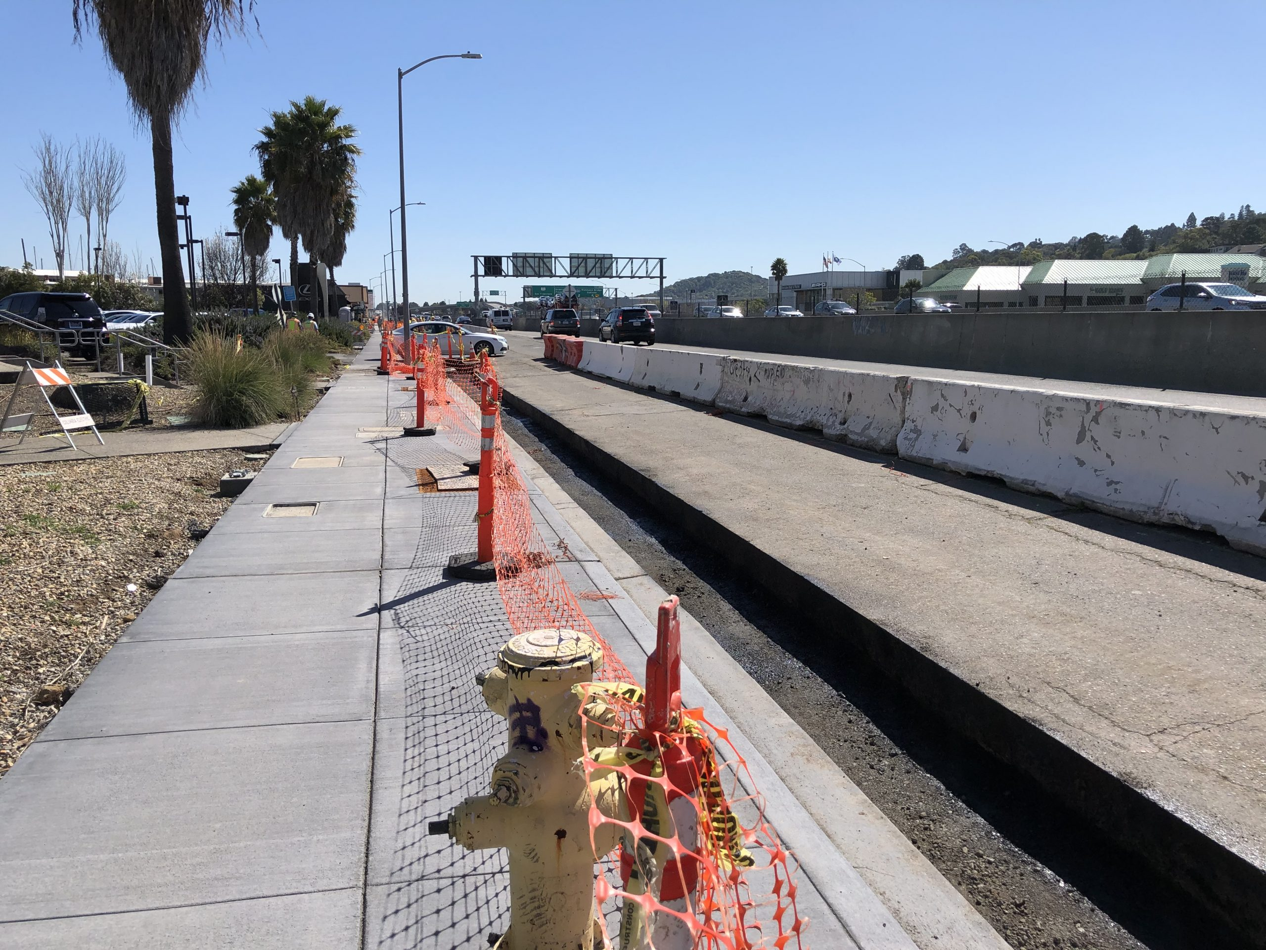 Francisco Blvd East sidewalk project