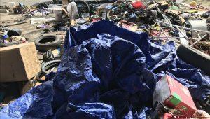 Encampment debris