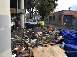 assisting CalTrans in viaduct cleanup