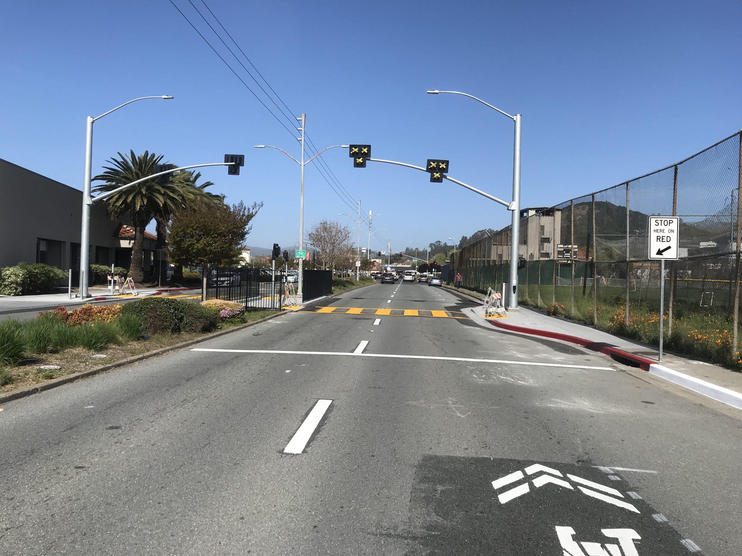 San Rafael High School Pedestrian Beacon