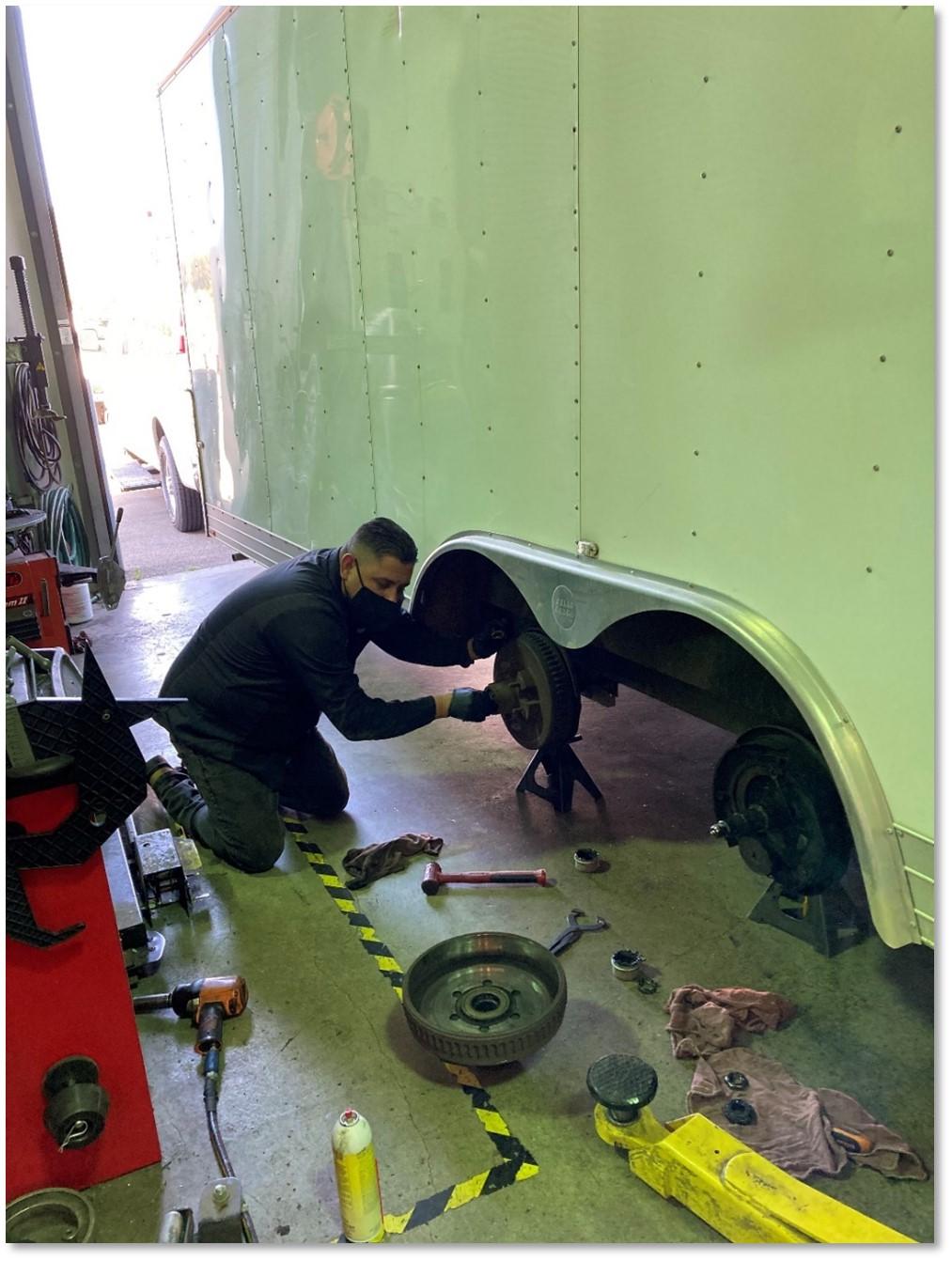 SRPD SWAT trailer maintenance
